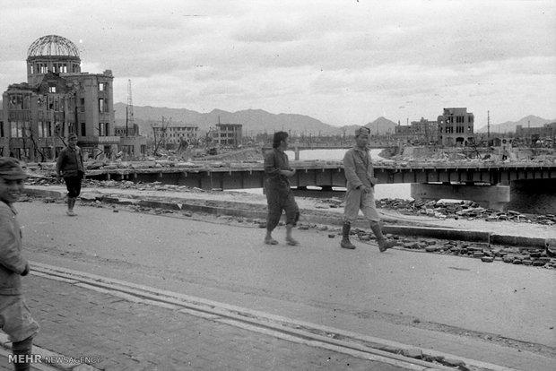 هیروشیما بعد از بمباران اتمی