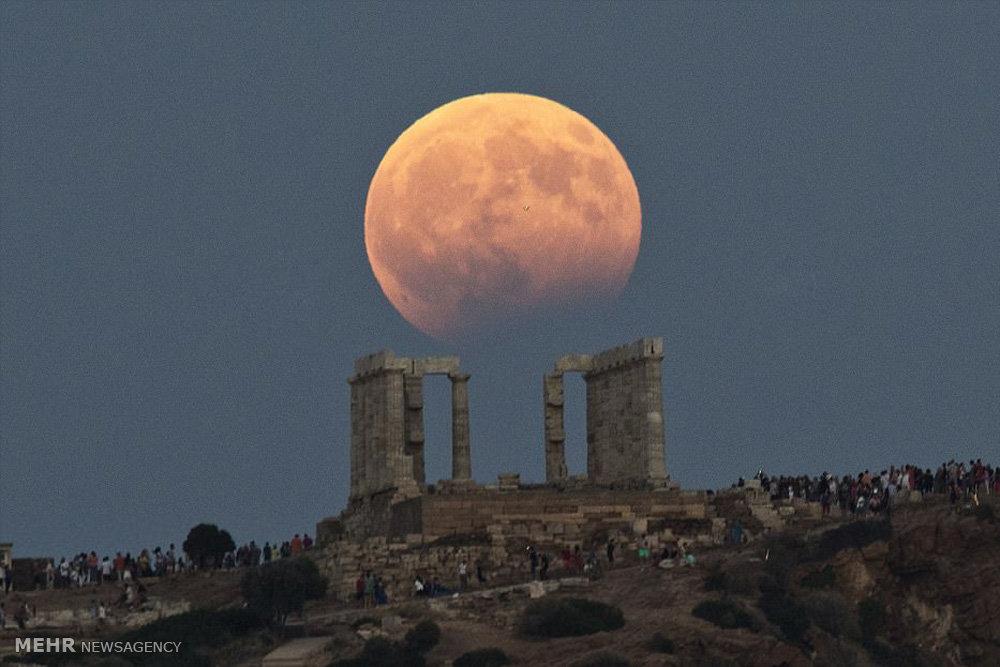 تصاویری از ماه گرفتگی