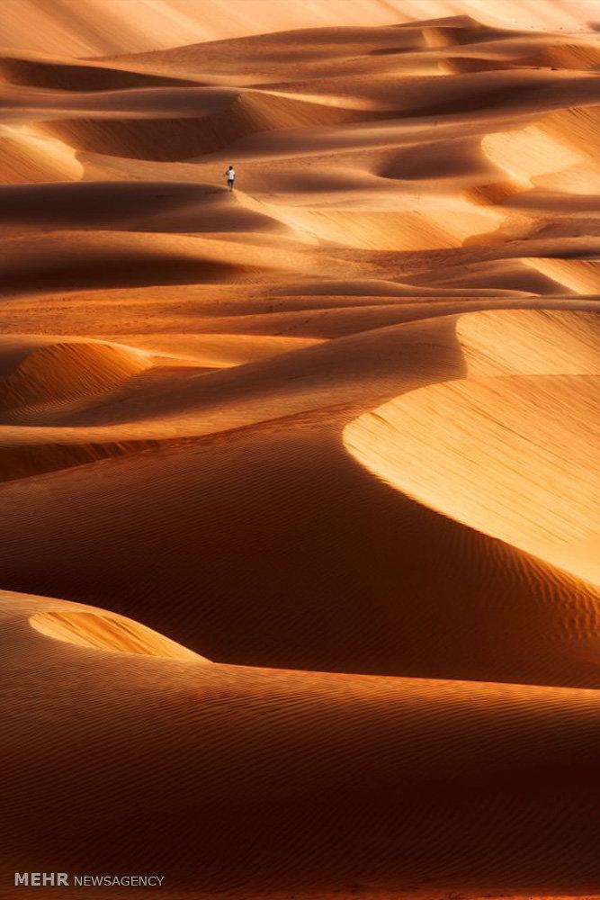 شن های روان در بیابان های دوبی
