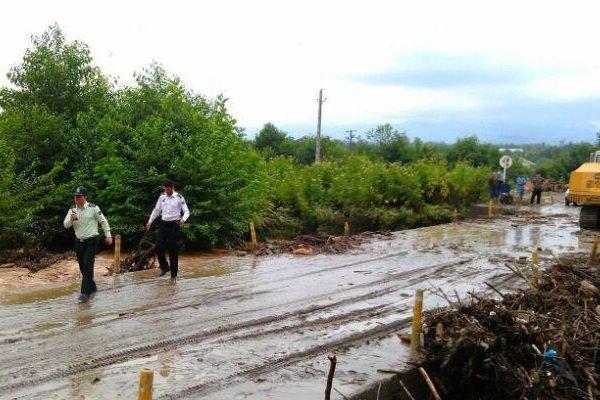 سیلاب ۴۵۰ میلیون تومان به راههای خراسان شمالی خسارت وارد کرد