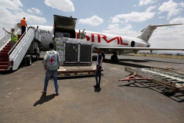استئناف الرحلات الإنسانية الى مطار صنعاء الدولي