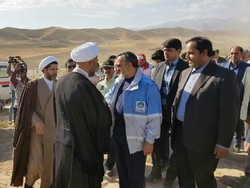 حضور نمایندگان مجلس در روستاهای سیل زده کلات