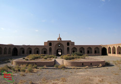 A view of Miyandasht Caravanserai in north central Iran