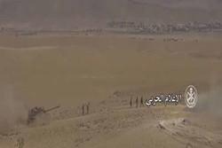 ارتش سوریه در السخنه در حومه شرقی حمص
