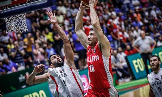 بسکتبال ایران سوریه