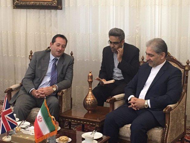 دیدار جبارزاده استاندار آذربایجان شرقی با نیکولاس هاپتون، سفیر انگلستان در ایران