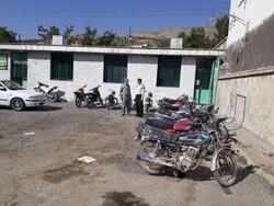 کشف ۲۰ دستگاه موتورسیکلت سرقتی در شادگان