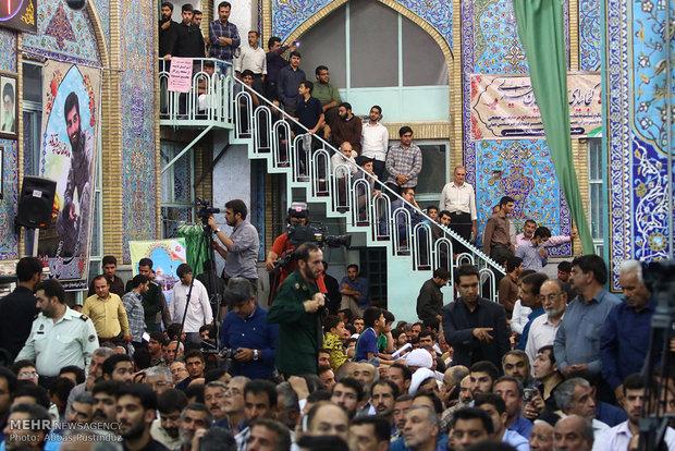 """مراسم تأبين الشهيد """"محسن حججي"""" في مسقط رأسه"""