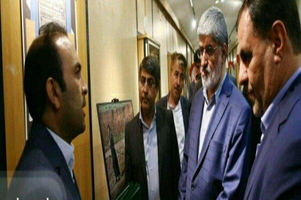 افتتاح نمایشگاه حوزه هنری کهگیلویه و بویراحمد در مجلس