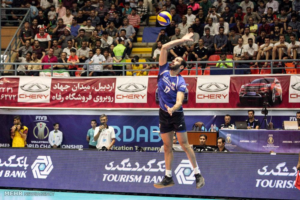 دیدار تیم های والیبال ایران وچین