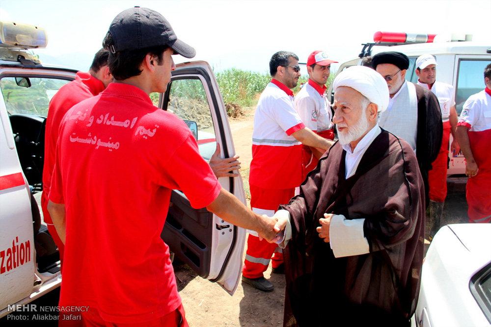 بازدید امام جمعه موقت گرگان از مناطق سیل زده