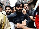کشمیر پولیس نے حریت رہنمایاسین ملک کوحراست میں لے لیا