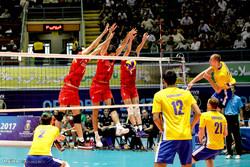 ايران تهزم صربيا بكرة الطائرة في مباراة ودية