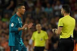 الاتحاد الإسباني يقرر إيقاف كريستيانو رونالدو خمس مباريات