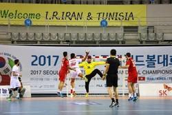تورنمنت بین المللی هندبال سئول - بازی ایران و تونس