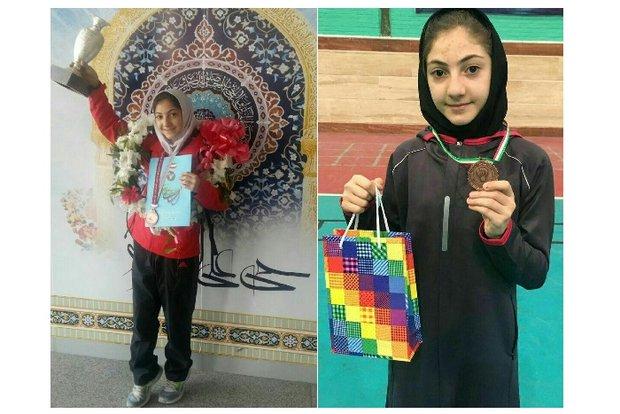 سارینا شامیزاده نونهال آذری دارنده مقام سوم مسابقات بدمینتون کشوری