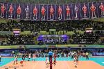 دیدار تیم های والیبال ایران و قطر