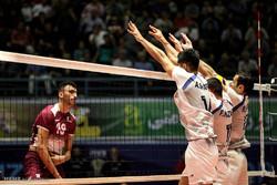 İran ve Katar arasındaki voleybol maçından kareler