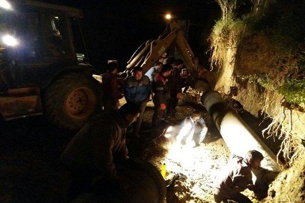 اصلاح شبکه آبرسانی و آغاز عملیات بالانس مخازن آب شرب شهر همدان