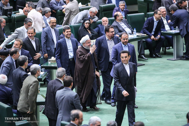 President Rouhani attends parliament to defend ministers