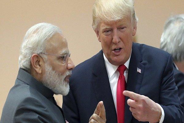 ڈونلڈ ٹرمپ  کی بھارتی وزیر اعظم نریندر مودی سے فون پر گفتگو