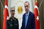 اللواء باقري يلتقي بالرئيس التركي في أنقرة