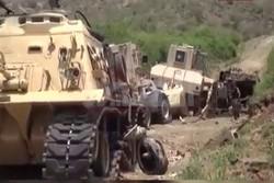 انهدام خودروهای نظامی عربستان