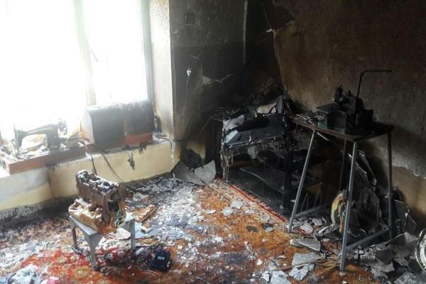 آتش سوزی منزل