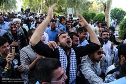 مراسم تشییع  پیکر شهید مدافع حرم سجاد باوی