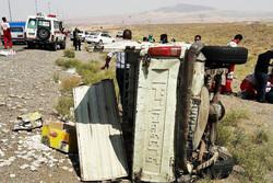 ۷ مصدوم حاصل تصادف ۵ خودرو در اتوبان تهران- قم