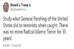 تغريدة لترامب حول اعتداء برشلونة تحرّض على قتل المسلمين وتثير جدلاً