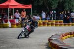 İran'daki kadınlardan moto race yarışması