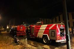 """حريق يلتهم جزءا من حدائق """"عباس آباد"""" بمدينة همدان"""
