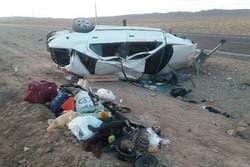 سه نفر بر اثر واژگونی خودرو در زنجان کشته شدند