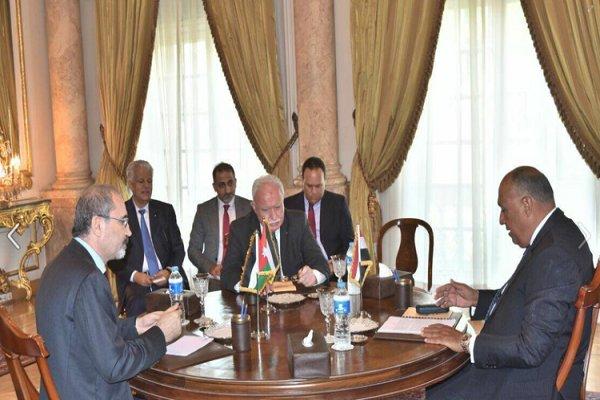 وزرای خارجه مصر، اردن و تشکیلات خودگردان