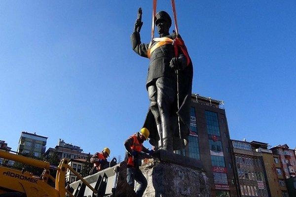 هجوم جديد على تمثال لكمال أتاتورك في تركيا