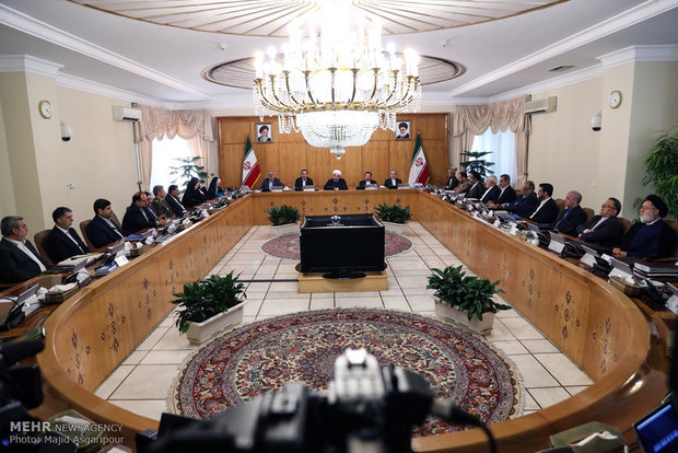 آغاز اولین جلسه هیئت دولت دوازدهم