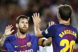 دیدار تیم های فوتبال بارسلونا و رئال بتیس