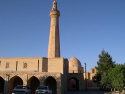 A view of Fahraj congregational mosque in Yazd province