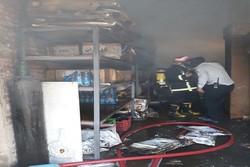 آتش سوزی انبار مرکزی اداره کل دامپزشکی خراسان شمالی مهار شد