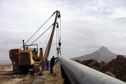 جابهجایی لوله انتقال گاز شهرستان پلدختر براثر سیلاب
