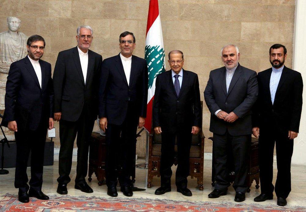 Jaberi Ansari discusses region with Lebanese president