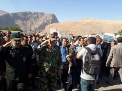 پیکر مطهر ۲ شهید گمنام در شهرستان صحنه تشییع و خاکسپاری شد