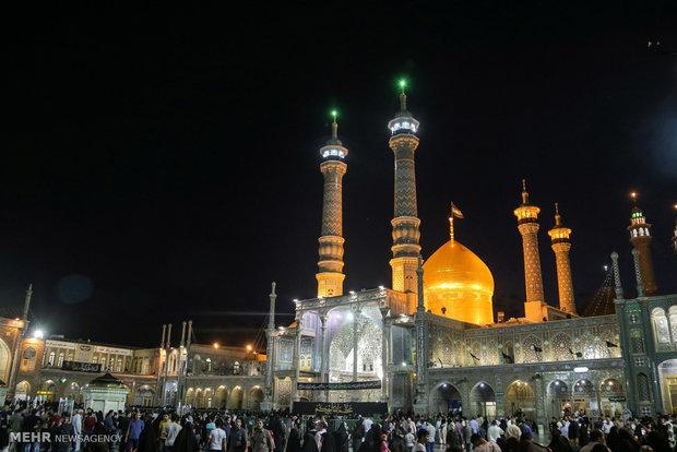 شب شهادت جواد الائمه (ع) در حرم حضرت معصومه (س