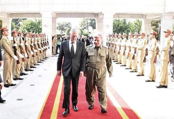 وزير الدفاع الأمريكي للبارزاني: قرار الإستفتاء كان بعيدا عن توقعاتنا