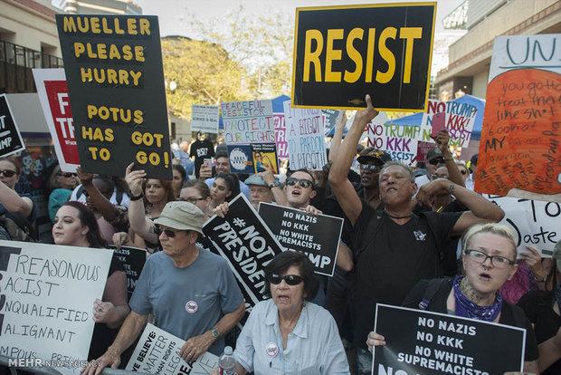 Arizona'da Trump karşıtı gösterilerden kareler