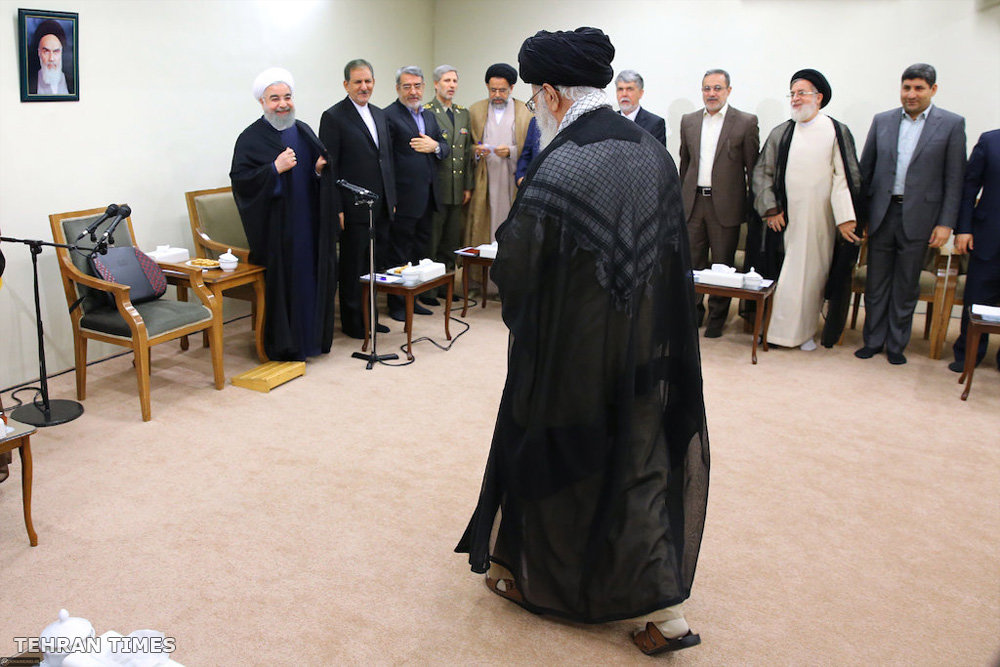 Tehran Times - President and his cabinet meet's Ayatollah Khamenei