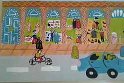 نقاشی بازار اردبیل