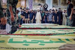 تشییع شهدای «نُجَباء» در مثلث مرزی عراق، سوریه و اردن