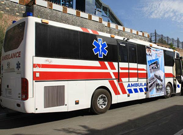 ۸ دستگاه آمبولانس از اردبیل به مناطق زلزله زده کرمانشاه اعزام شد